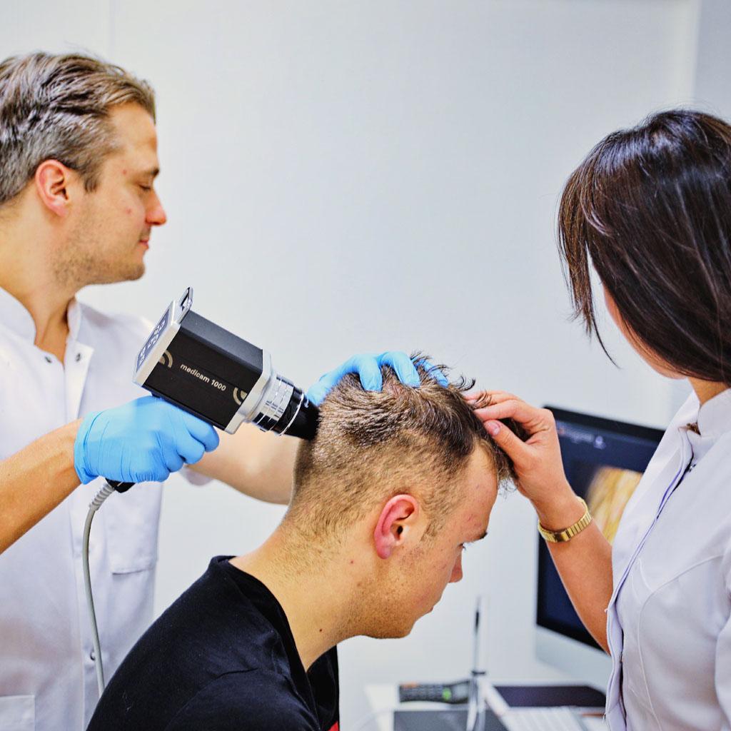 Wideodermatoskopowa ocena skóry głowy